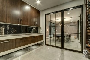 Contemporary Glass Doors for Wine Cellar