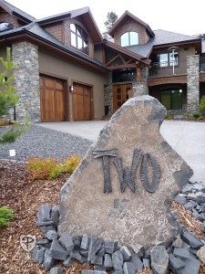 Iron Hammered House Number