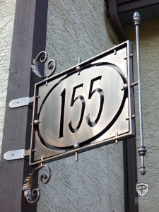 Decorative Iron House Number